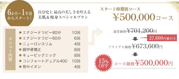 6か月から1年前からスタートの50万円コース